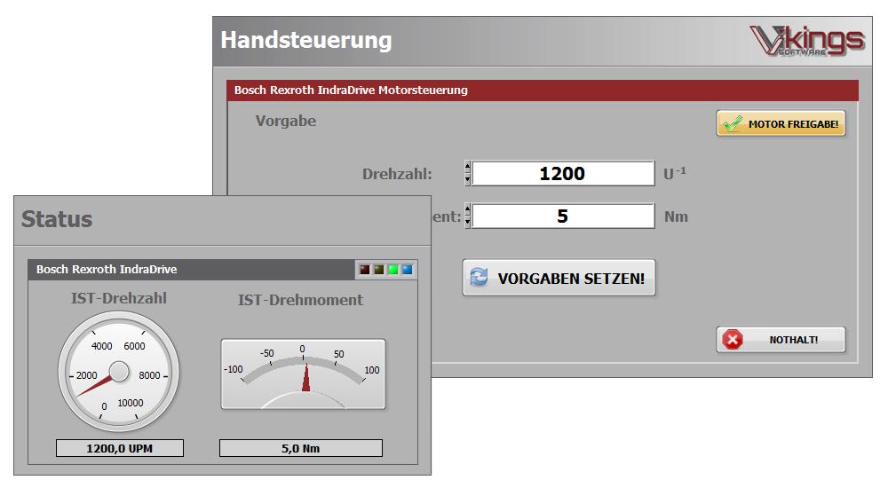 Portfolio Motorsteuerung mit Bosch IndraDrive CANopen und LabVIEW RealTime
